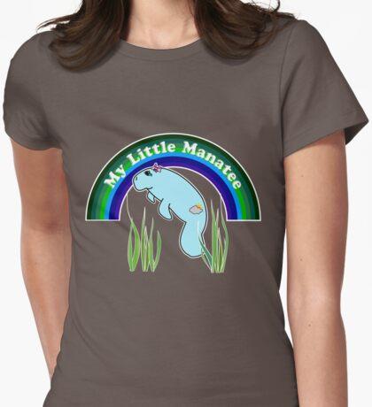 My Little Manatee (dark background) Womens Fitted T-Shirt
