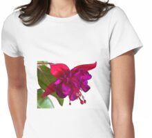 Fuschia Blossom Macro  Womens Fitted T-Shirt