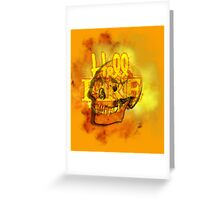 Hell Fire Fiery Skull Inferno Horror  Graphic Greeting Card