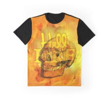 Hell Fire Fiery Skull Inferno Horror  Graphic Graphic T-Shirt