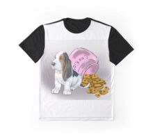 Basset Hound and Cookies Graphic T-Shirt