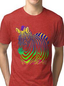 Psychedelic Zebra Tri-blend T-Shirt