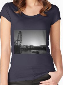 London...blink of a moment...caught it... Women's Fitted Scoop T-Shirt
