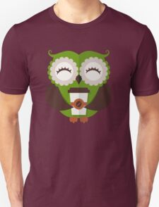 Funny owl who loves coffee. Unisex T-Shirt