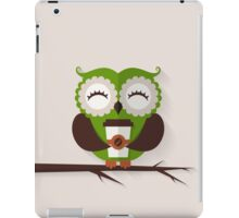Funny owl who loves coffee. iPad Case/Skin