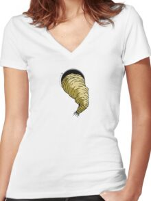 Anomaly & Astronaut - Space Maggot (INside) Women's Fitted V-Neck T-Shirt