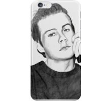 Dylan Obrien realistic drawing iPhone Case/Skin