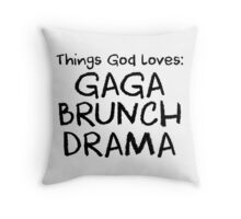 Things God Loves Throw Pillow