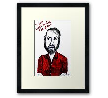 I Just Want to Dull the Pen Framed Print