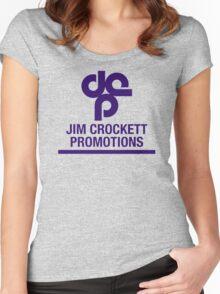 Jim Crockett Promotions Logo Women's Fitted Scoop T-Shirt