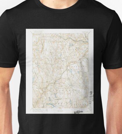 USGS TOPO Map Connecticut CT Gilead 331029 1892 62500 Unisex T-Shirt