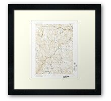 USGS TOPO Map Connecticut CT Gilead 331029 1892 62500 Framed Print