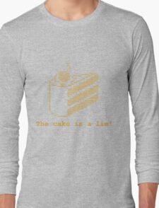 The cake is a lie! (fanart) Long Sleeve T-Shirt