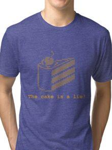 The cake is a lie! (fanart) Tri-blend T-Shirt