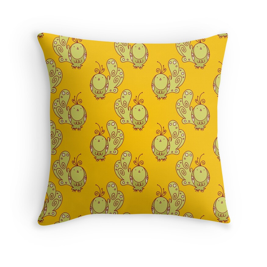 Bird Pattern Throw Pillows :