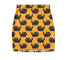 Cartoon Fat Black Cat Pattern Mini Skirt