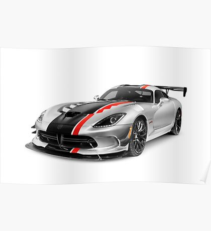 2016 Dodge Viper ACR sports car art photo print Poster