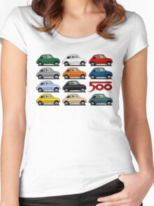 Fiat 500 side view Women's Fitted Scoop T-Shirt