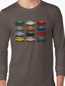 Fiat 500 side view Long Sleeve T-Shirt