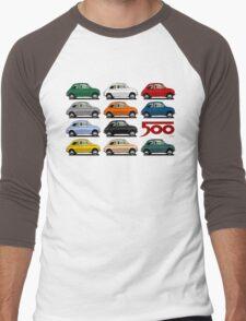 Fiat 500 side view Men's Baseball ¾ T-Shirt
