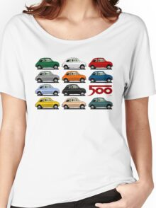 Fiat 500 side view Women's Relaxed Fit T-Shirt