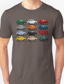 Fiat 500 side view Unisex T-Shirt
