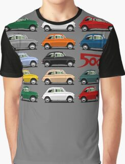 Fiat 500 side view Graphic T-Shirt