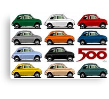 Fiat 500 side view Canvas Print