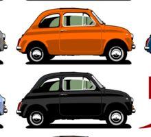 Fiat 500 side view Sticker