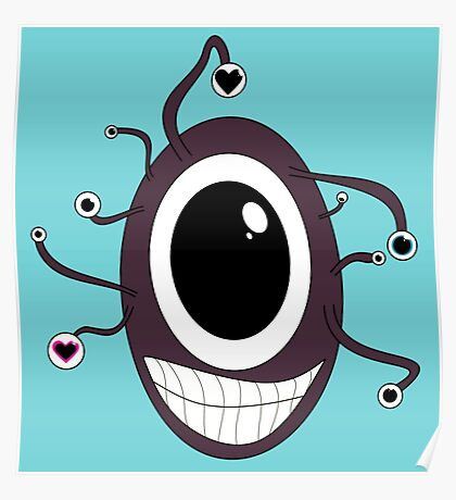 Cute Beholder - Dungeons and Dragons Poster