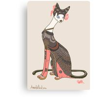 Valentina, Art Deco Cat Canvas Print