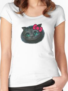 Hello Cheshire Kitty Women's Fitted Scoop T-Shirt