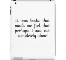 Books quote iPad Case/Skin