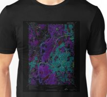 USGS TOPO Map Connecticut CT New Britain 330708 1966 24000 Inverted Unisex T-Shirt