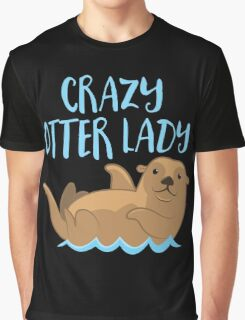 Crazy OTTER lady (new swimming) Graphic T-Shirt