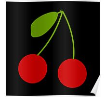 Twin Cherries bright and fun design Poster