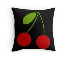 Twin Cherries bright and fun design Throw Pillow