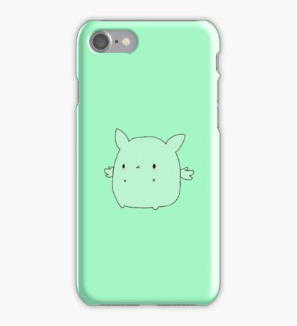 Kawaii Flying Mint Bunny iPhone Case/Skin