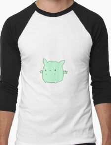 Kawaii Flying Mint Bunny Men's Baseball ¾ T-Shirt