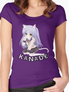 kanade of angefl beats looking cute ! Women's Fitted Scoop T-Shirt