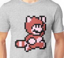 Pixel raccoon Mario Unisex T-Shirt