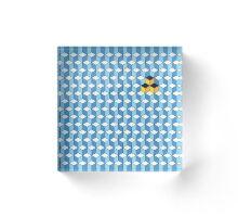 Blue & Orange Tiling Cubes Acrylic Block