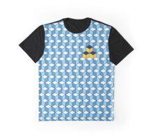 Blue & Orange Tiling Cubes Graphic T-Shirt