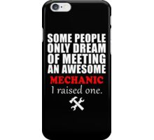 Funny Mechanic Mom Quotes Tshirt, Nice Gift For Mechanic Wife iPhone Case/Skin