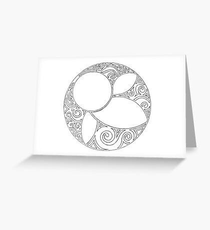 Rosace (Three) Greeting Card