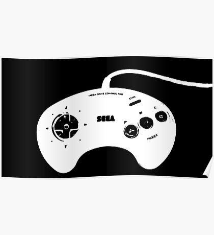 Mega Drive Controller Poster