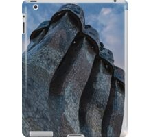 Capricious Trencadis Mosaics – Antoni Gaudi's Quirky Chimneys at Casa Batllo in Barcelona iPad Case/Skin