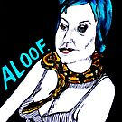 Aloof - Woman with a snake  by Kari Sutyla