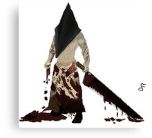 Pyramid Head Pixel Art  Canvas Print