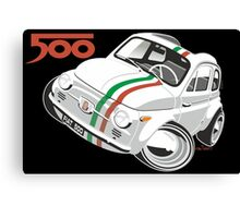 Fiat 500D caricature white Canvas Print